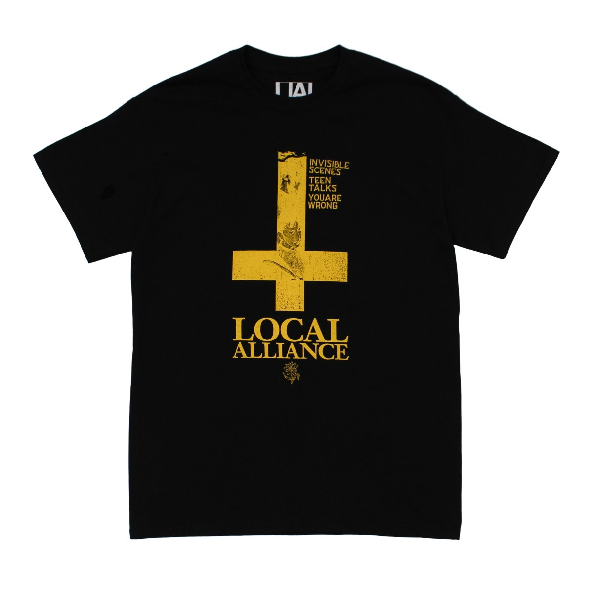 Cross Wave T-shirt 【BLACK】