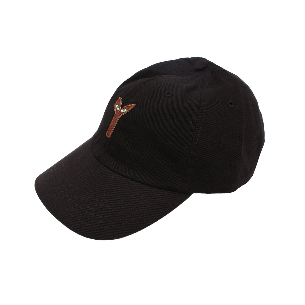 Aya(Brown Plant)Embroidred Patch Hat