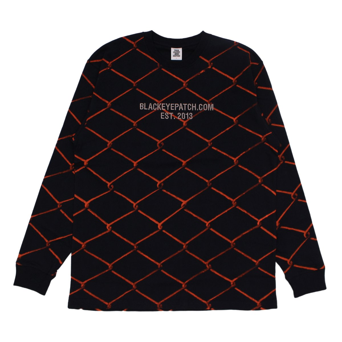 FENCED L/S TEE【NAVY】