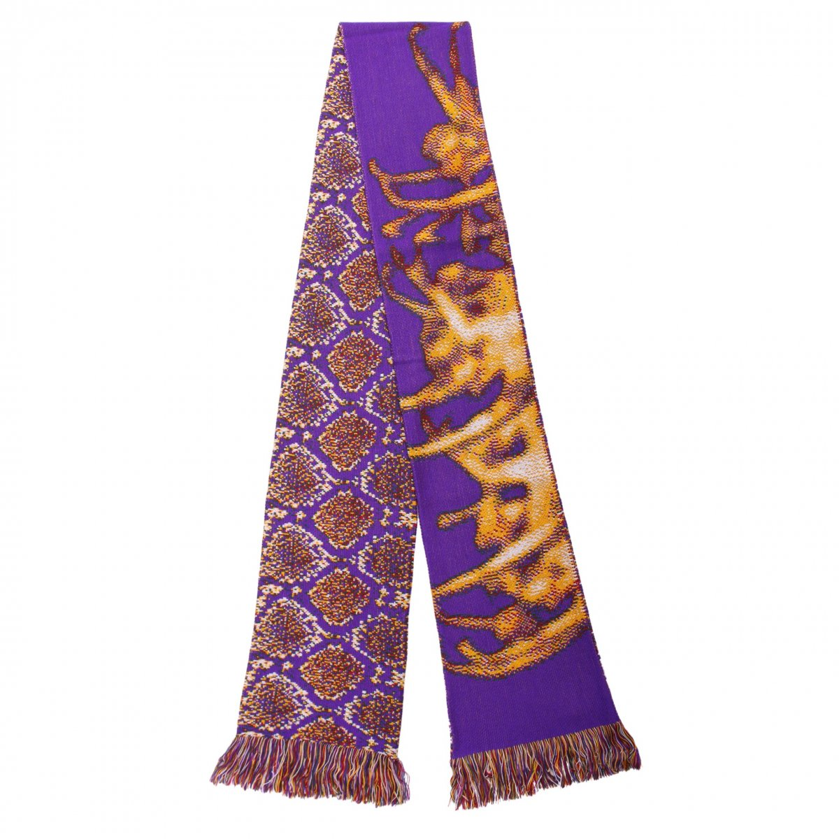 JACQUARD SCARF 【PURPLE/GREEN】