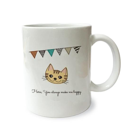 ネコさんマグM・フラグ「短毛・茶トラ」
