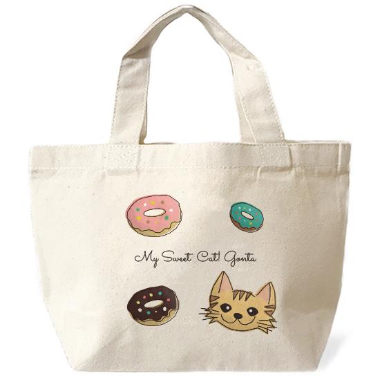 ネコさんバッグ・スイーツ「長毛・茶トラ」