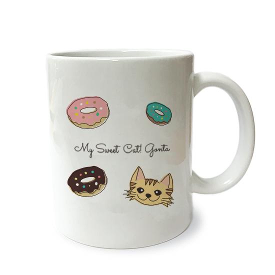 ネコさんマグM・スイーツ「長毛・茶トラ」