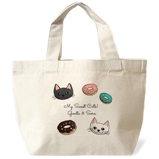 ネコさんバッグ・スイーツ「複数ネコさん」