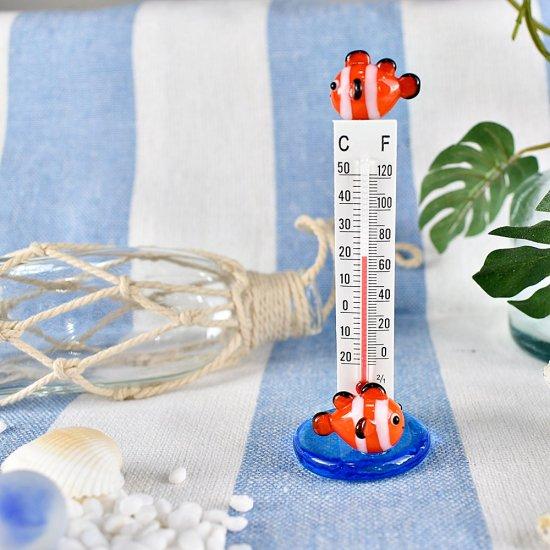 【ガラス細工】温度計クマノミ