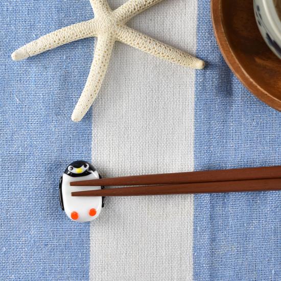 【ガラス細工】ペンギン箸置き