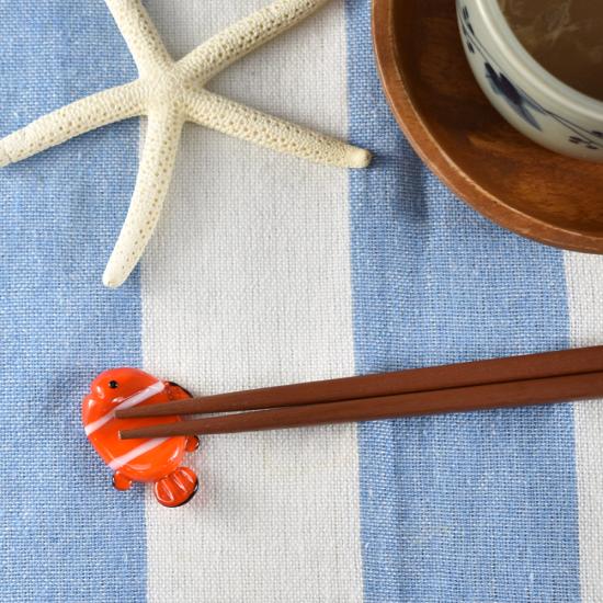 【ガラス細工】クマノミ箸置き