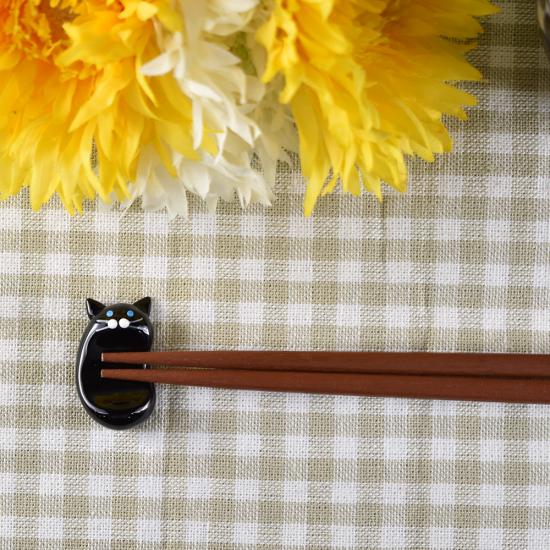 【ガラス細工】クロネコ箸置き