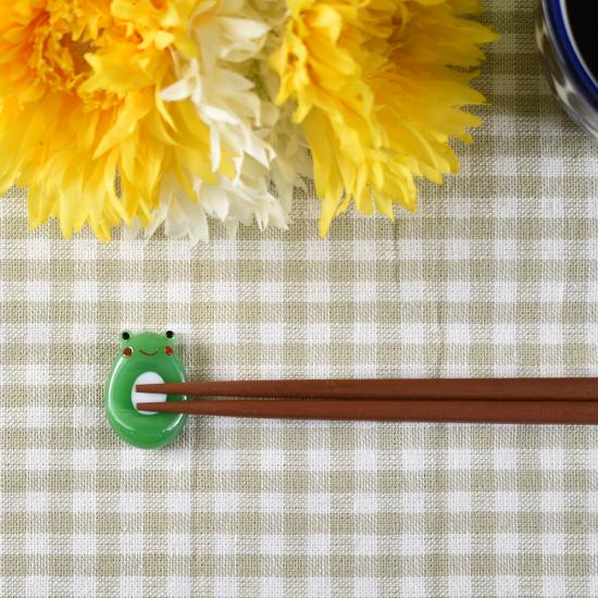 【ガラス細工】カエル箸置き