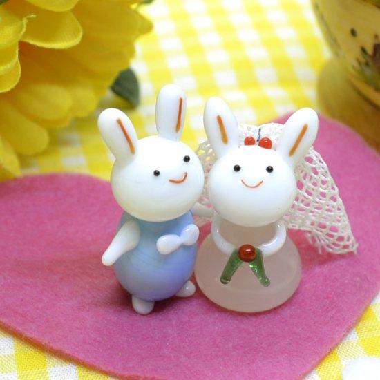 【ガラス細工】ウェディングウサギ