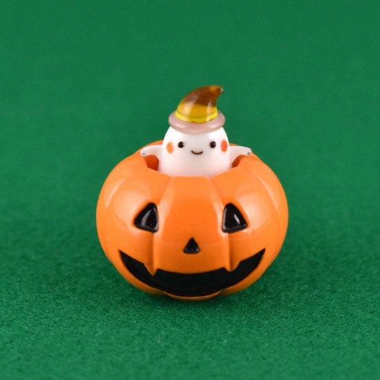 【ガラス細工】かぼちゃ入りおばけ