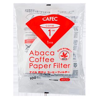 CAFEC アバカ円錐コーヒーフィルター(1杯用)