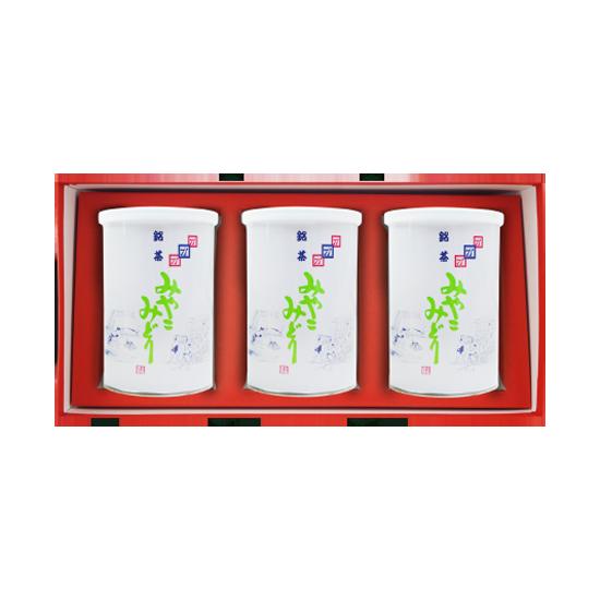 みやこみどり【松印】 (商品番号BK-3) 90g×3缶詰