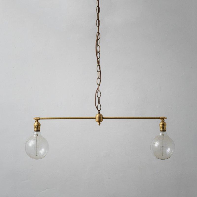 OPL003<br>2 BULBS LIGHT / 真鍮2バルブスライト