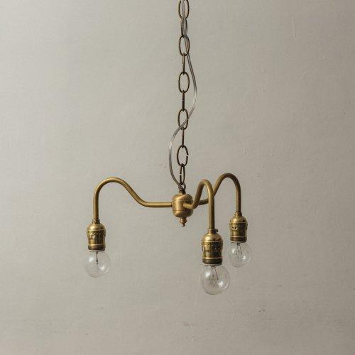 OPL004<br> 3 BULBS LIGHT / 真鍮3灯照明