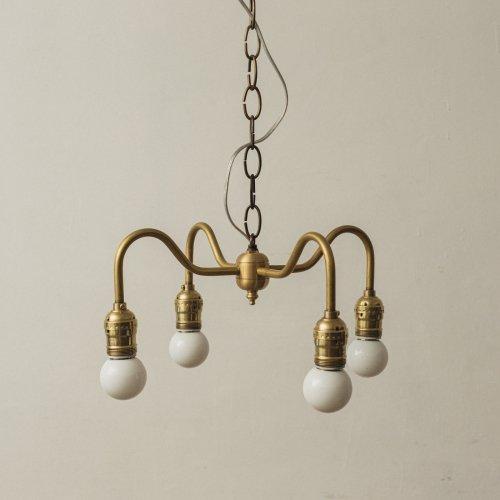 OPL005<br>4 BULBS LIGHT / 真鍮4灯照明
