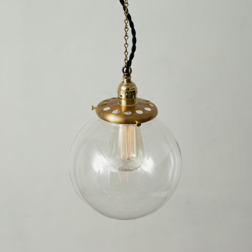 OPL011CL<br>GLASS SHADE LAMP-L size CL / 真鍮ガラスシェード照明