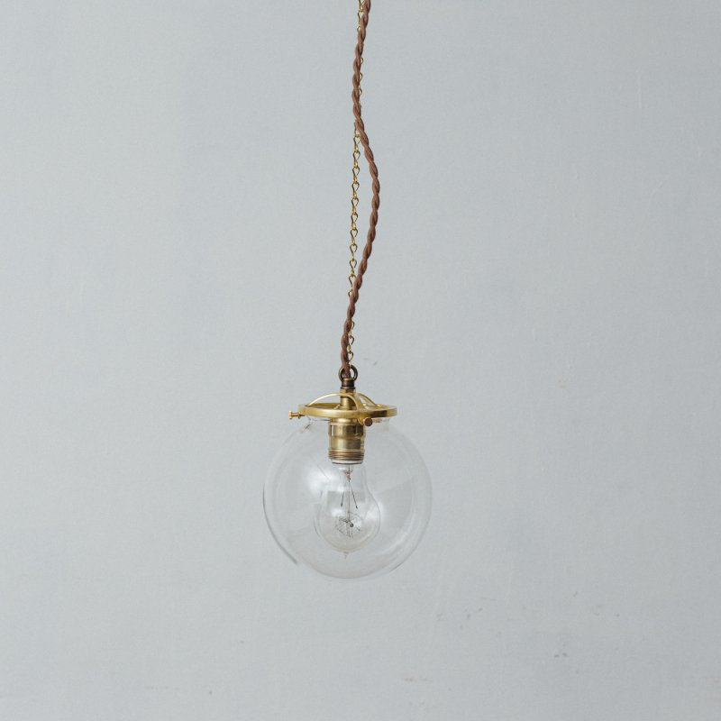 OPL024CL<br>GLASS SHADE LAMP-S size CL / 真鍮ガラスシェード照明