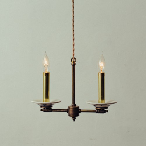 OPL089<br>2 BULBS LIGHT / 真鍮2灯照明