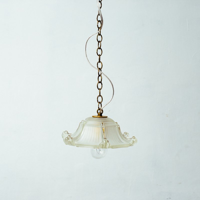 OPL446<br>GLASS SHADE LAMP / 真鍮ガラスシェード照明