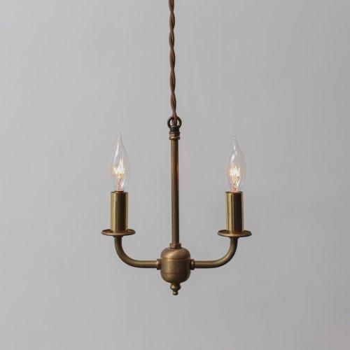 OPL067<br>2 BULBS LIGHT / 真鍮2灯照明