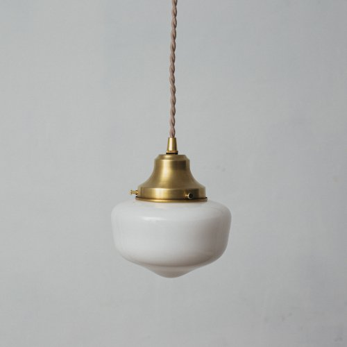 OPL317<br>PENDANT LAMP - S size SCHOOL HOUSE / 真鍮ガラスシェード照明