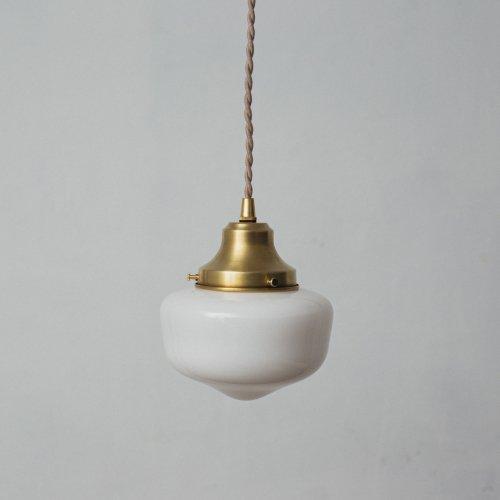 OPL317<br>PENDANT LAMP - S size SCHOOL HOUSE / 真鍮ガラスシェード照明