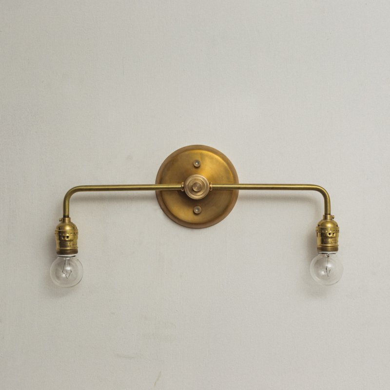 OBL032<br>2 BULBS BRACKET LAMP / 真鍮2灯ブラケットランプ