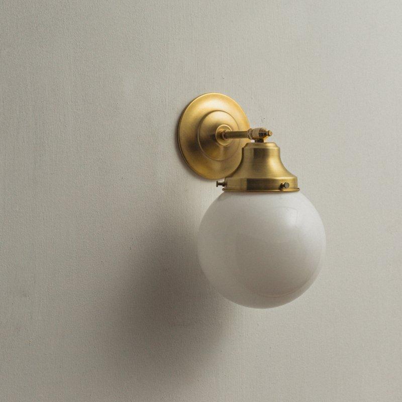 OBL034<br>GLASS SHADE BRACKET LAMP / 真鍮ガラスシェードブラケットランプ