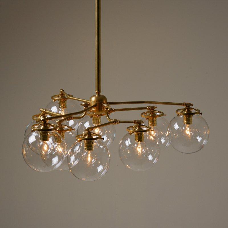 【再入荷】 OCH012<br>9 BULBS LIGHT / 真鍮9灯照明シャンデリア