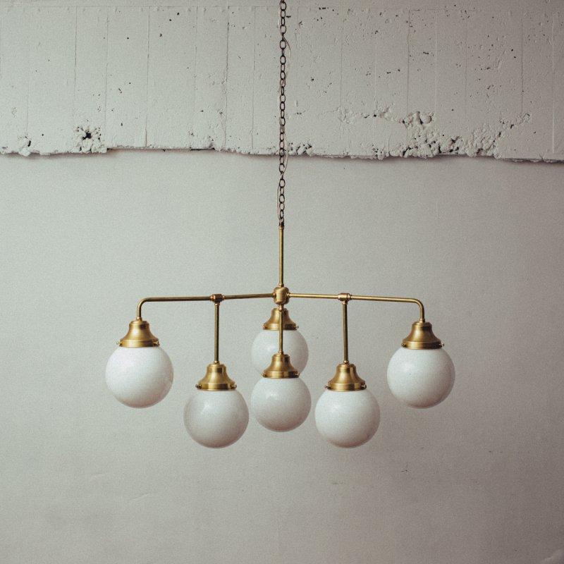 OCH019<br>6 BULBS CHANDELIER / 真鍮6灯照明シャンデリア