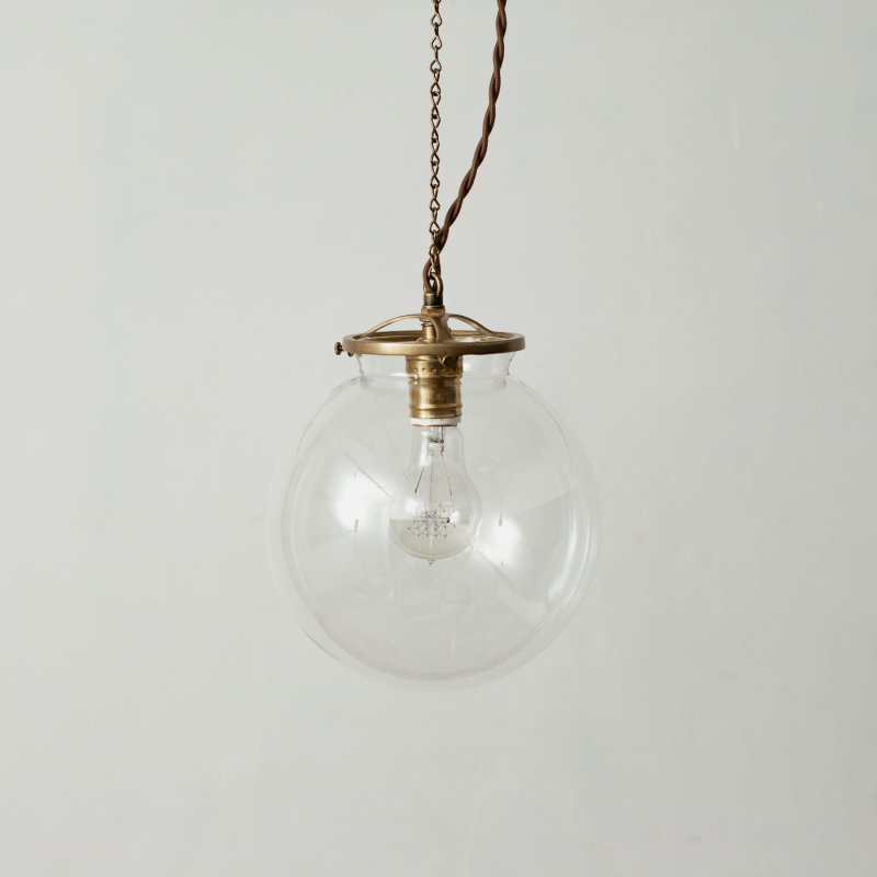 OPL022CL<br>GLASS SHADE LAMP-L size CL / 真鍮ガラスシェード照明