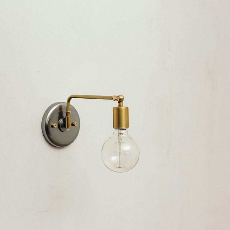 OBL041<br>2 WAY BRACKET LAMP / 真鍮ブラケットランプ