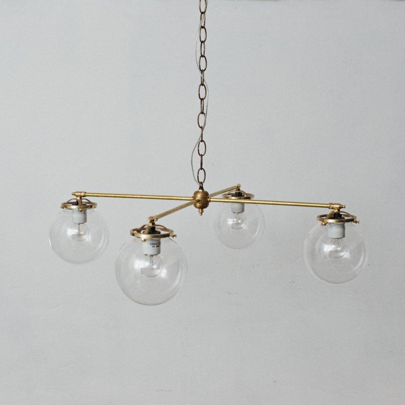 OCH010CL<br>4 BULBS LIGHT CL / 真鍮4灯照明シャンデリア