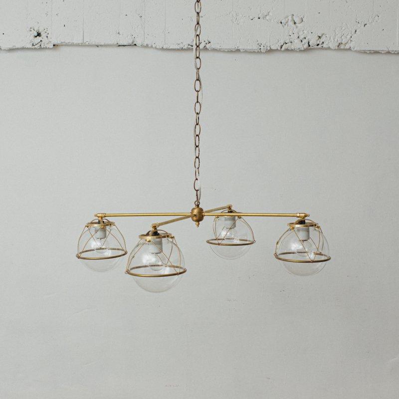 OCH021-CL<br>4 BULBS LIGHT CL / 真鍮4灯照明シャンデリア