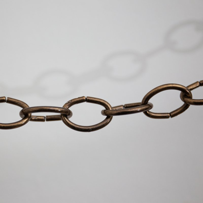 BABY OVAL CHAIN - ANTIQUE GOLD 1M<br>ベビーオーバルチェーン アンティークゴールド