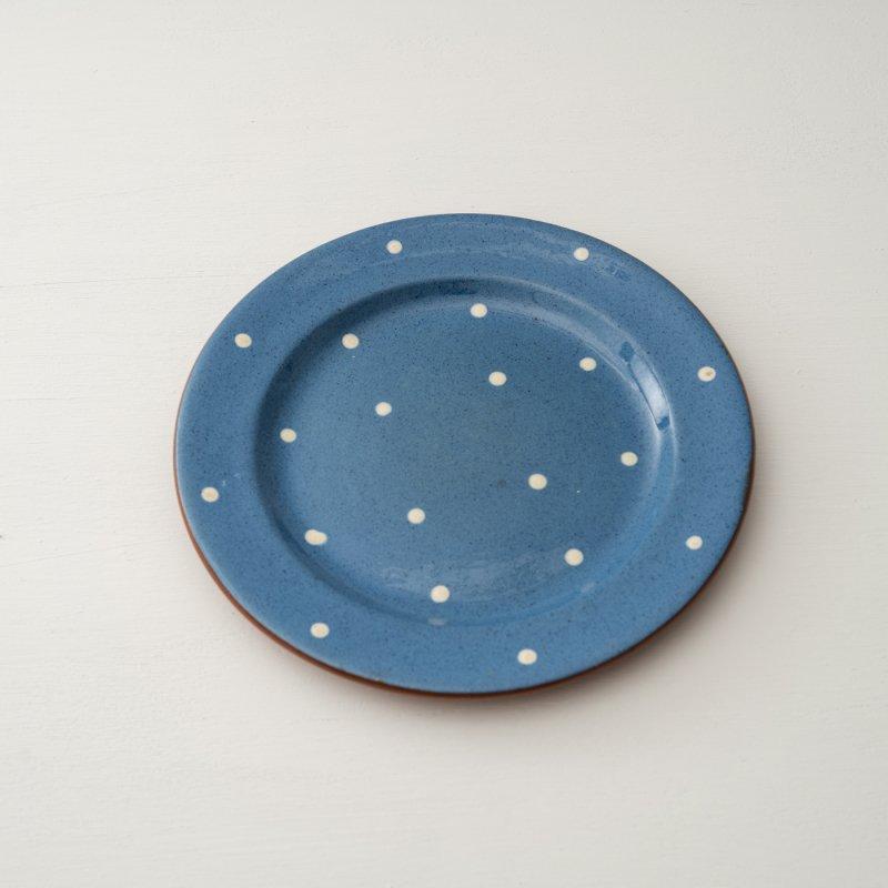 PLATE <br>プレート ブルー ドット 直径 20.6cm