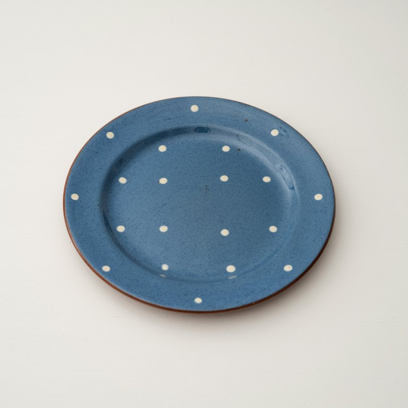 PLATE <br>プレート ブルー ドット 直径 20.5cm
