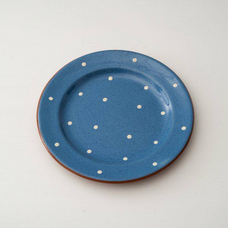 PLATE <br>プレート ブルー ドット 直径 21.0cm