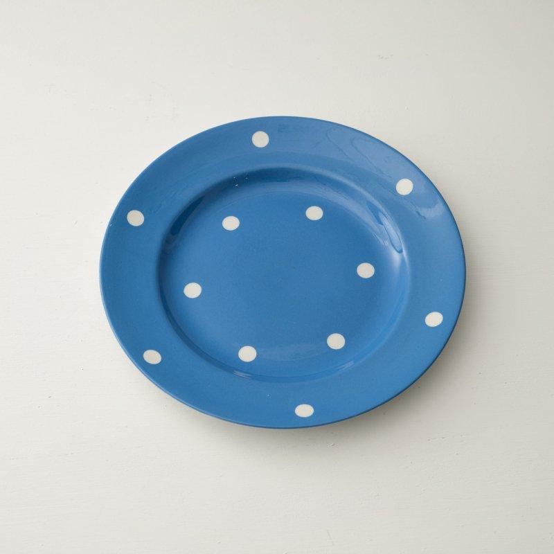 PLATE <br>プレート ブルー ドット 直径 25.7cm