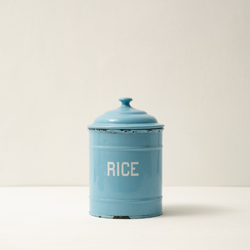 CANISTER RICE<br>ホーローキャニスター ブルー ライス