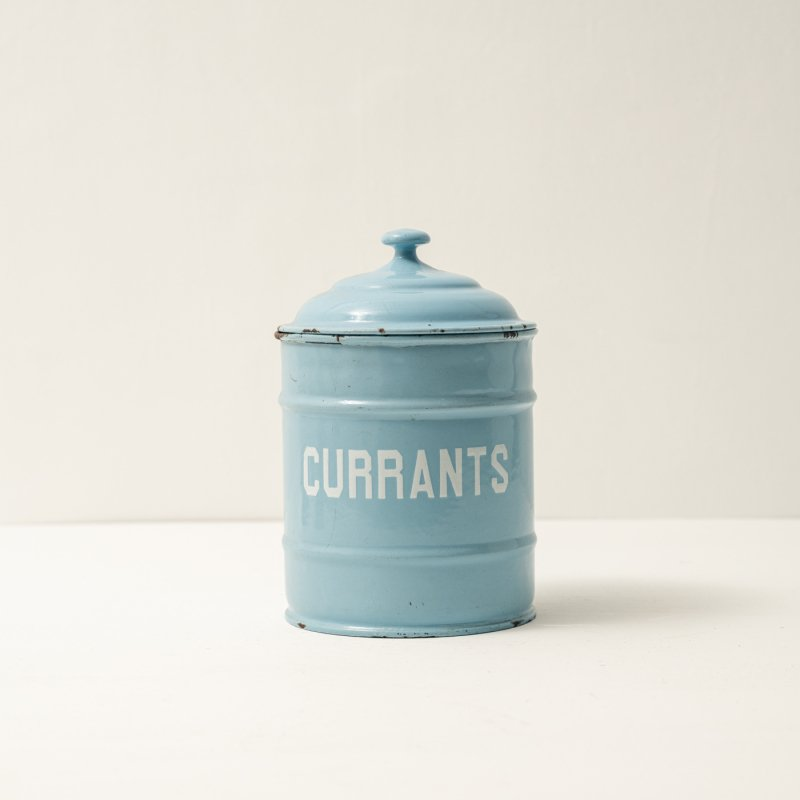 CANISTER CURRANTS<br>ホーロー キャニスター ブルー