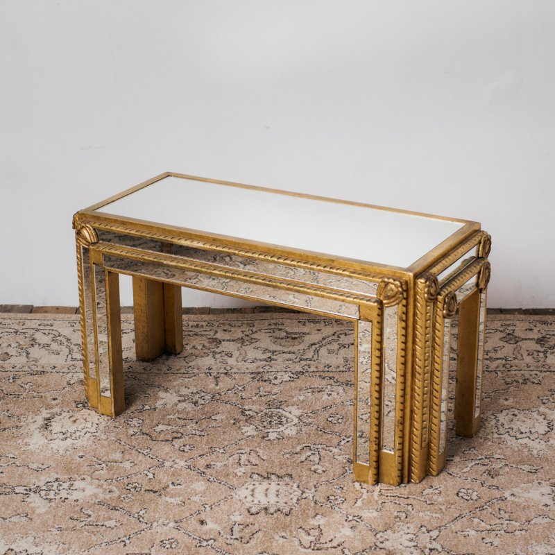 MIRROR TOP CONSOLE TABLE <br> ヴィンテージ コンソールテーブル