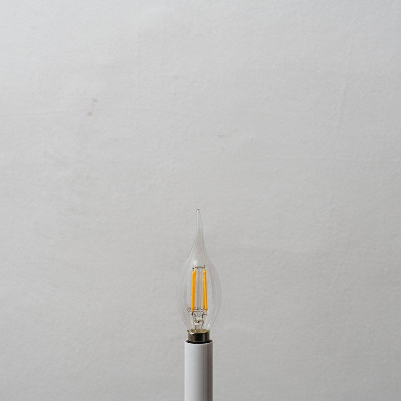 LED BULB E12 3.8W - FLAME TIP CL<br>LED電球 E12 3.8W クリア