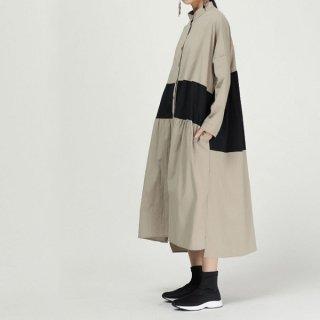 ワンピース シャツ バイカラー センターライン トラスト コート