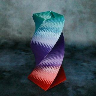 【一点物】 「001」 幾何学模様のグラデーション 箸立て&花瓶風