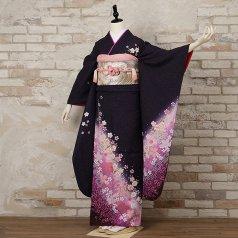 振袖 フルセット 花柄 Lサイズ 紫系 (中古 リユース 美品) 56060