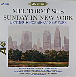 MEL TORME SINGS SUNDAY IN NEW YORK