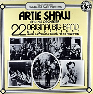 ARTIE SHAW 22ORIGINAL BIG-BAND Us盤 2枚組