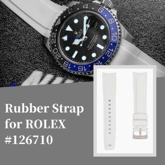 ラバーベルト:ロレックス GMT 126710用